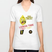 lemongrab V-neck T-shirts featuring NES Lemongrab by IF ONLY
