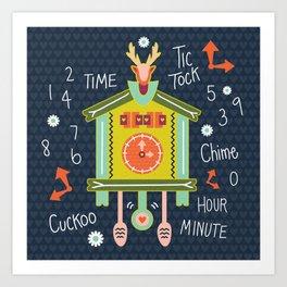 Tic Tock Cuckoo Clock Art Print