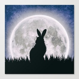 The Hare's Moon Canvas Print
