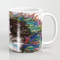 grateful dead Mugs featuring Jerry Garcia Watercolor Portrait Grateful Dead by Acorn
