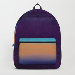 Lake View On A Foggy Morning in Violet, Blue and Orange 2 Backpack