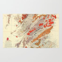 Vintage Scotland Geological Map (1865) Rug