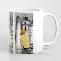 lighthouse Mugs featuring lighthouse by The Traveling Catburys