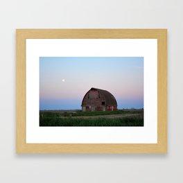Moon Over Royal Barn 2 Framed Art Print