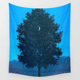Rene Magritte - Le Seize Septembre - 1956 Moon Through Tree Surrealism Wall Tapestry