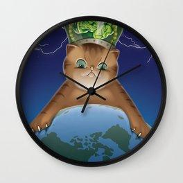 Fluffy Domination Wall Clock