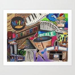 Memphis #1 Art Print