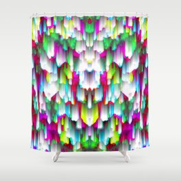 Colorful digital art splashing G396 Shower Curtain