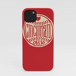 Cincinnati Ohio  Hand Drawn Script Design iPhone Case