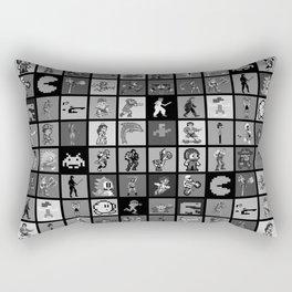 Pixel Heroes Black & White Rectangular Pillow