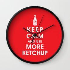 Keep Calm and Use Ketchup Wall Clock