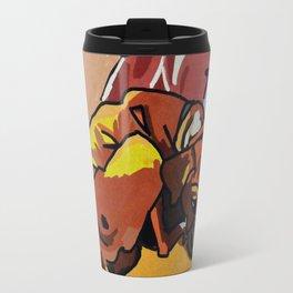 Whimsical Boxer Dog Illustration Travel Mug