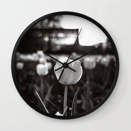 Tulip in Monochrome Wall Clock