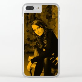 Blair Waldorf - leighton meester Clear iPhone Case