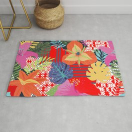 red jungle Rug