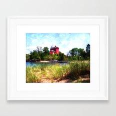 Summer Lighthouse Framed Art Print