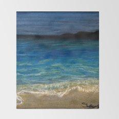 The beach Throw Blanket