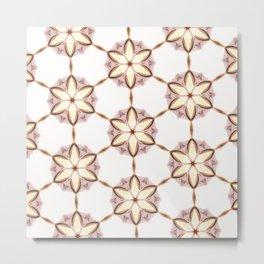 Castro kaleidoscope brilliant pattern version calm Metal Print