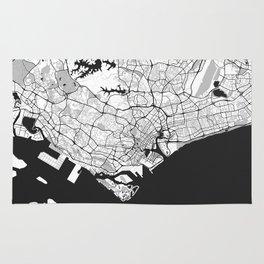 Singapore Map Gray Rug