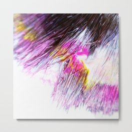 Paintbrush Bristles Macro Photography Metal Print