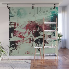 Scorched City Under False Stars Wall Mural