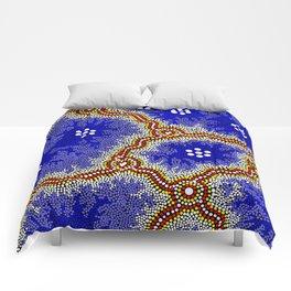 Aboriginal Art Authentic – Water Wetlands Comforters