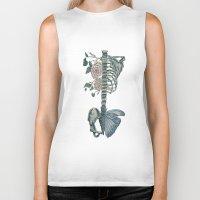 skeleton Biker Tanks featuring Skeleton by ArtSchool