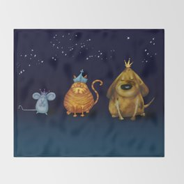 We Three Kings Throw Blanket