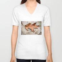 leaf V-neck T-shirts featuring leaf by Bonnie Jakobsen-Martin