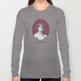 Authors - Jane Austen Long Sleeve T-shirt