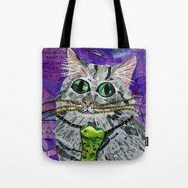 Cat & Fish Tie Tote Bag