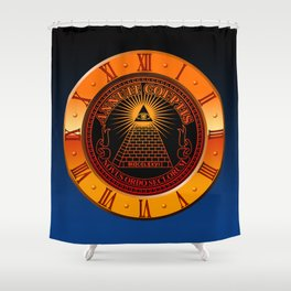Eye of Providence clock Shower Curtain