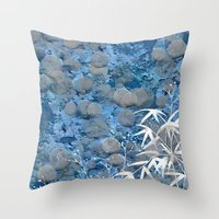 zen Throw Pillows featuring Zen by dominiquelandau