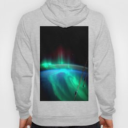 Aurora Borealis Over Earth Hoody