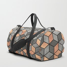 Concrete and Copper Cubes Duffle Bag