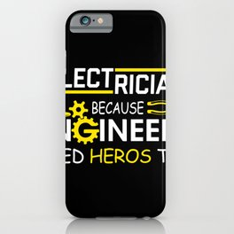 Electrician saying volt voltage energy iPhone Case