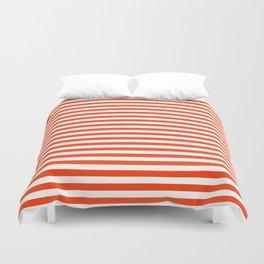 Florida fan gators university orange and blue team spirit football college sports stripes Duvet Cover