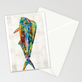 Colorful Dolphin Fish by Sharon Cummings Stationery Cards