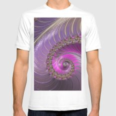 Pink And Purple Mens Fitted Tee White MEDIUM