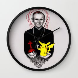 Pope John Paul II and Great Martyr Picachu Wall Clock
