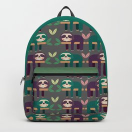 Sloth pattern Backpack