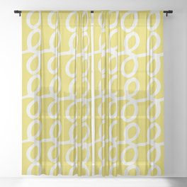 Zesty Pattern No 01 Sheer Curtain