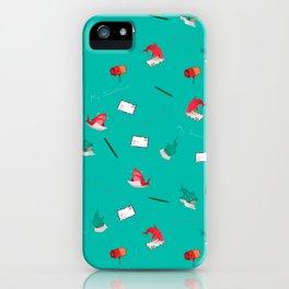 Teal Whale Shark and Shark iPhone Case