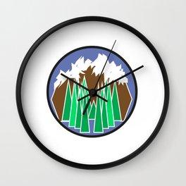 Mountain Getaway Wall Clock