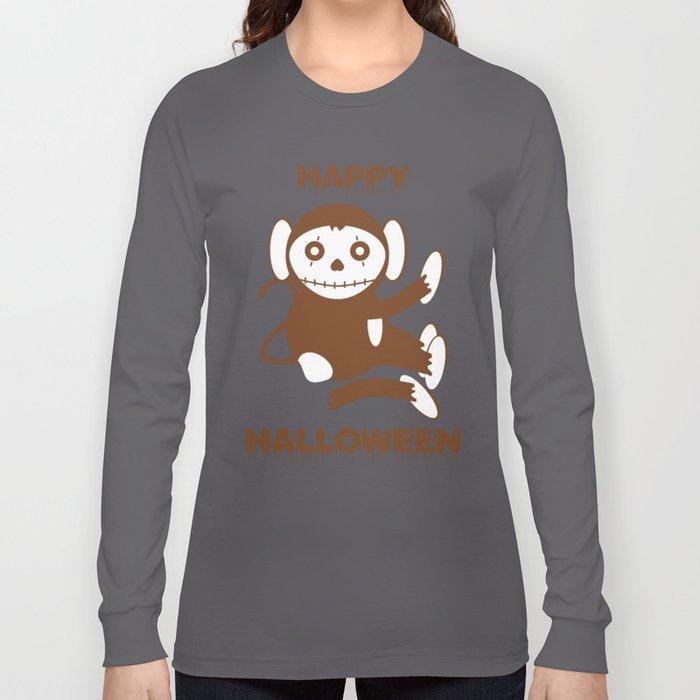 Dead Monkey Happy Halloween Long Sleeve T-shirt
