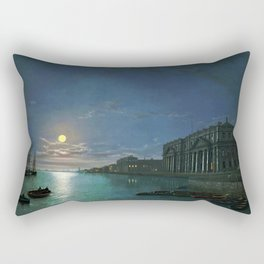 Classical Masterpiece View of the Thames River by Abraham Pether Rectangular Pillow