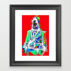 At The Podium Framed Art Print