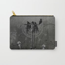 Awesome crow skeleton with skulls Carry-All Pouch