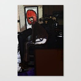 Lola sits Canvas Print