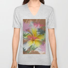 Flowers 9 DF Unisex V-Neck